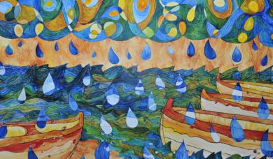 Sant Pol de Mar - Sa Calma|Obra gráficaderichard martin| Compra arte en Flecha.es
