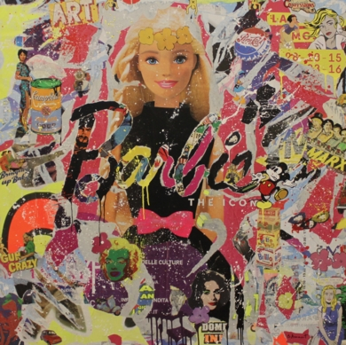 Sara Arnaout_Pop Icon|CollagedeRaul Eberhard| Compra arte en Flecha.es