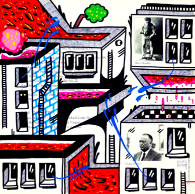 HOOVER AND HOUDINI ST. (FREEMASON CITY)|DibujodeVicente Aguado| Compra arte en Flecha.es