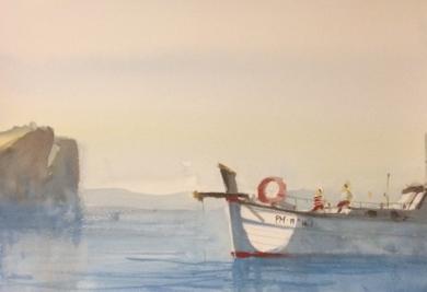 Fondeados por la tarde|PinturadeIñigo Lizarraga| Compra arte en Flecha.es