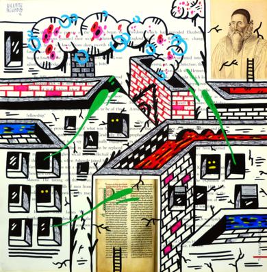 JOHN DEE ST. (FREEMASON CITY)|DibujodeVicente Aguado| Compra arte en Flecha.es