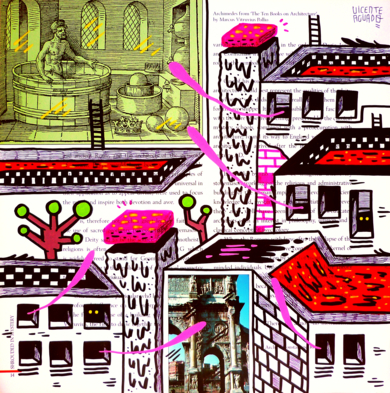 ARCHIMEDES ST. (FREEMASON CITY)|DibujodeVicente Aguado| Compra arte en Flecha.es