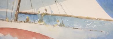 Navegando en la bahía|PinturadeIñigo Lizarraga| Compra arte en Flecha.es