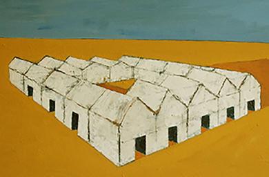 Poblado|PinturadeAna Pellón| Compra arte en Flecha.es