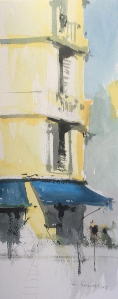 Toldos azules|PinturadeIñigo Lizarraga| Compra arte en Flecha.es