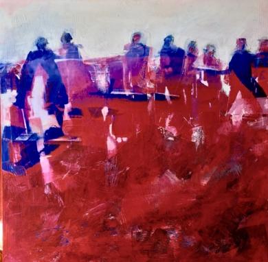 FIGURES ON RED|PinturadeErika Nolte| Compra arte en Flecha.es
