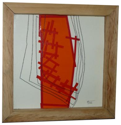 No pixel naranja|CollagedeFabiana Zapata| Compra arte en Flecha.es