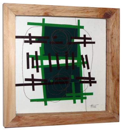 No pixel verde|CollagedeFabiana Zapata| Compra arte en Flecha.es