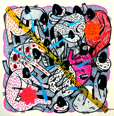 THE ILLUSTRIOUS DEGENERATION I|DibujodeVicente Aguado| Compra arte en Flecha.es