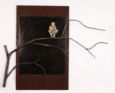 Preparando mi nido, en las ramas de tus brazos.|EsculturadeReula| Compra arte en Flecha.es