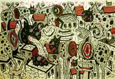 SBULL AND KONES|DibujodeVicente Aguado| Compra arte en Flecha.es
