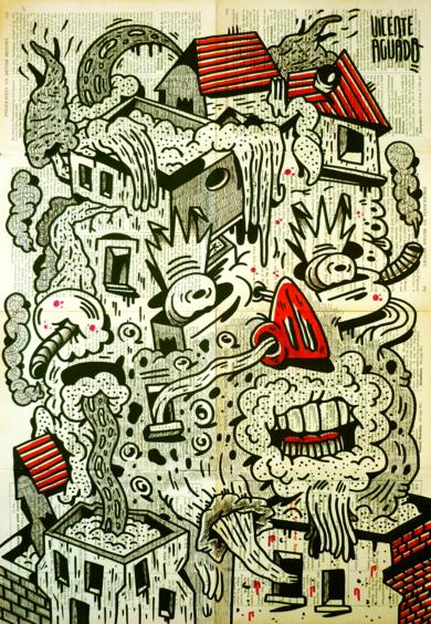 THY ART IS MURDER|DibujodeVicente Aguado| Compra arte en Flecha.es