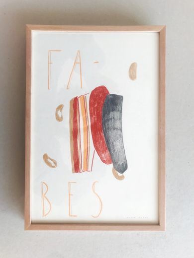 FABES_ I Believe in Food|DibujodeMarta Botas| Compra arte en Flecha.es