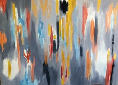 GRIS I|PinturadeIraide Garitaonandia| Compra arte en Flecha.es