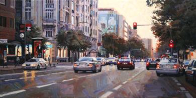 Calle Goya. Madrid|PinturadeBALSERA| Compra arte en Flecha.es