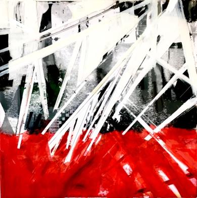 Invasiòn al Rojo|CollagedeErika Nolte| Compra arte en Flecha.es