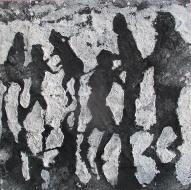 Tarde en la playa negro|PinturadeAlvaro Sellés| Compra arte en Flecha.es