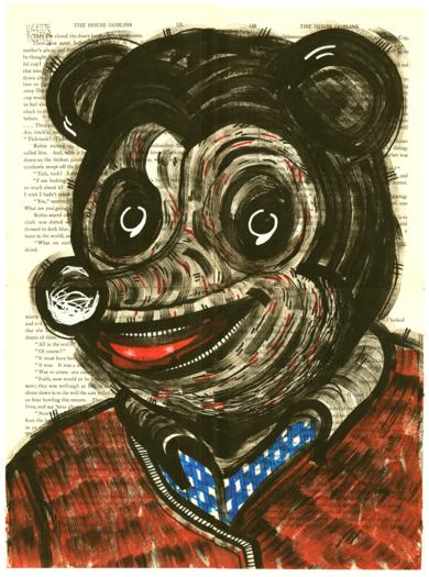 THE HOUSE GOBLINS - HUGH HEFNER|DibujodeVicente Aguado| Compra arte en Flecha.es