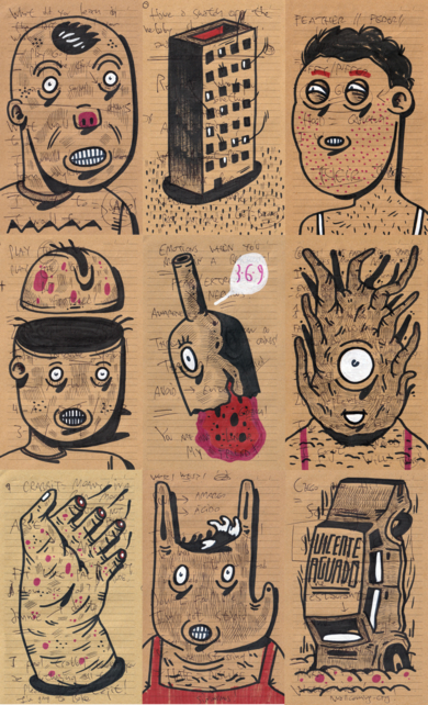A SHORT POST TRUTH STORY I|DibujodeVicente Aguado| Compra arte en Flecha.es