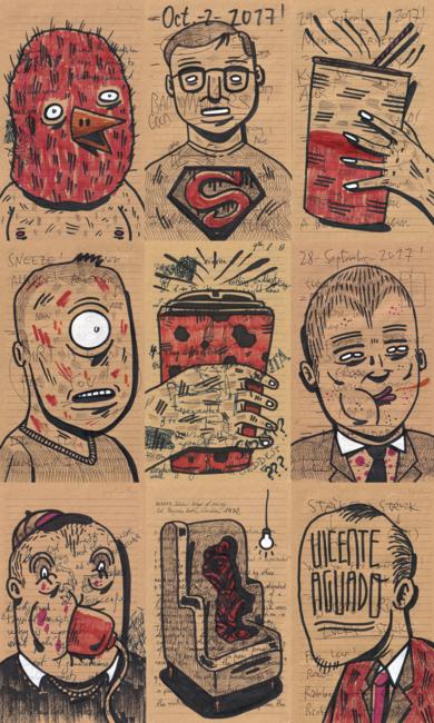 A SHORT POST TRUTH STORY II|DibujodeVicente Aguado| Compra arte en Flecha.es
