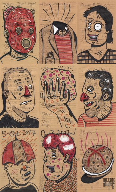 A SHORT POST TRUTH STORY III|DibujodeVicente Aguado| Compra arte en Flecha.es