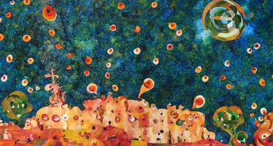 Belén y Nazaret|IlustracióndeRICHARD MARTIN| Compra arte en Flecha.es