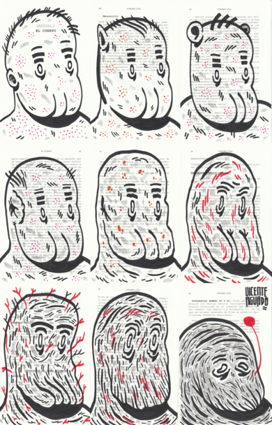 THE BODY|DibujodeVicente Aguado| Compra arte en Flecha.es