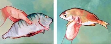 No es un beso, es un besado|PinturadeClaudia Suárez| Compra arte en Flecha.es