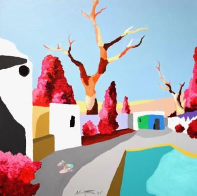La casa de la piscina|PinturadeALEJOS| Compra arte en Flecha.es