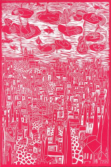 Gran Rojo Realejo|Obra gráficadeMarta Aguirre| Compra arte en Flecha.es