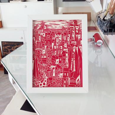 Rojo Realejo.|Obra gráficadeMarta Aguirre| Compra arte en Flecha.es