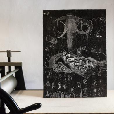 Sin fronteras.|Obra gráficadeMarta Aguirre| Compra arte en Flecha.es