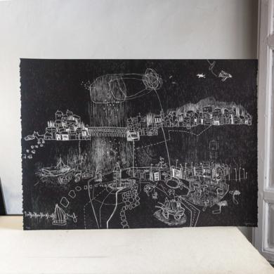 Ojos del Norte que miran al Sur.|Obra gráficadeMarta Aguirre| Compra arte en Flecha.es