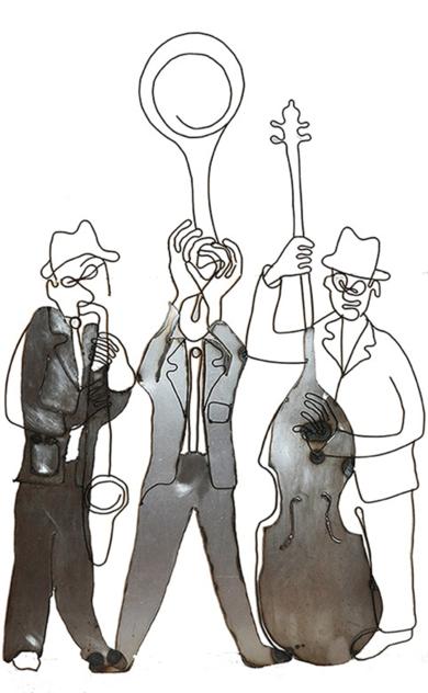 Jazz trío.|EsculturadeJenifer Carey| Compra arte en Flecha.es