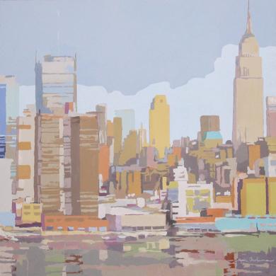 Empire desde el Hudson III|PinturadeJavier AOIZ ORDUNA| Compra arte en Flecha.es