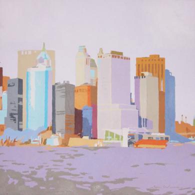 LOWER MANHATTAN V|PinturadeJavier AOIZ ORDUNA| Compra arte en Flecha.es