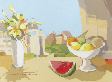 Bodegón de la sandía II|PinturadeJavier AOIZ ORDUNA| Compra arte en Flecha.es