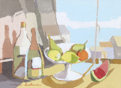 Bodegón de la sandía I|PinturadeJavier AOIZ ORDUNA| Compra arte en Flecha.es