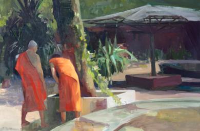 Jardin de la paz|PinturadeCarmen Montero| Compra arte en Flecha.es
