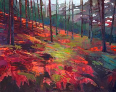 Helechos rojos|PinturadeCarmen Montero| Compra arte en Flecha.es