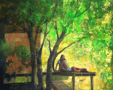 La casa del arbol|PinturadeCarmen Montero| Compra arte en Flecha.es
