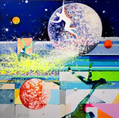 Surfing|PinturadeALEJOS| Compra arte en Flecha.es