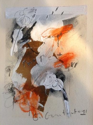 Nubes y tierra|DibujodeEdurne Gorrotxategi| Compra arte en Flecha.es