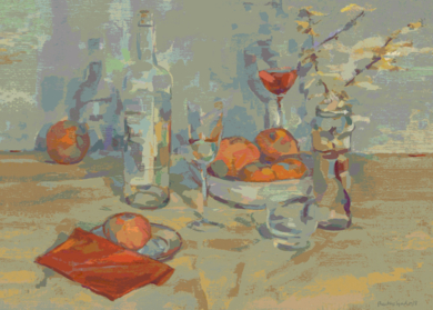 Naranjas y vino|DigitaldeBeatriz Ujados| Compra arte en Flecha.es