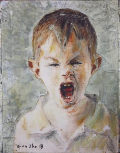 Un grito en la infancia|PinturadeGonzho| Compra arte en Flecha.es