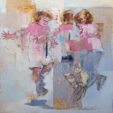 El baile de las niñas|CollagedePilar López Báez| Compra arte en Flecha.es