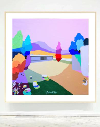 Casa en la montaña|PinturadeALEJOS| Compra arte en Flecha.es