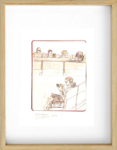 Esperas|DibujodeFernando Colomo| Compra arte en Flecha.es