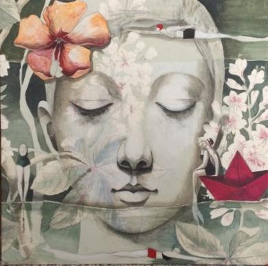La mar de jardines II|PinturadeMenchu Uroz| Compra arte en Flecha.es