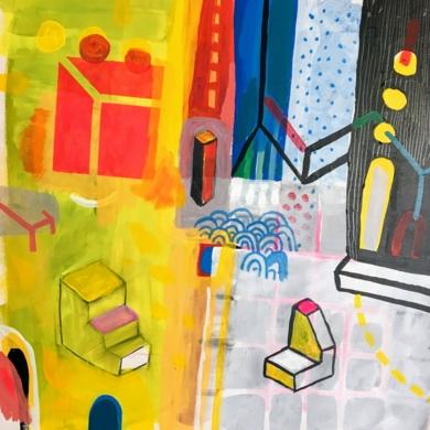 Geometría y civilización|PinturadeÁngel Celada| Compra arte en Flecha.es